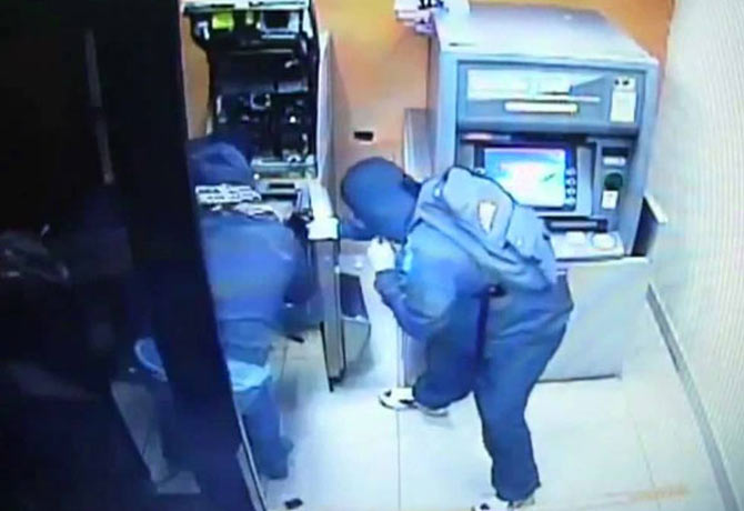 Arrest of robbers who tried to rob an ATM in Sangareddy