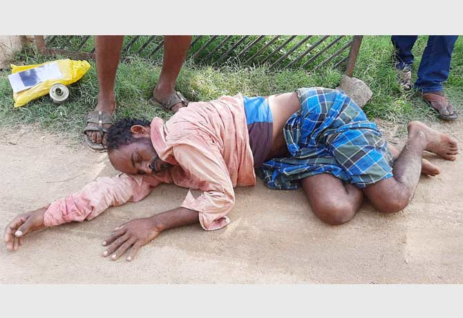 Farmer suicide attempt in front of MRO office