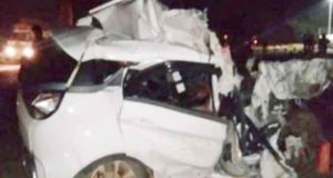 Pregnant woman dies in road accident at Rangareddy